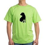 Shar Pei Silhouette Green T-Shirt