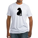 Shar Pei Silhouette Fitted T-Shirt