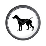 Greyhound Silhouette Wall Clock