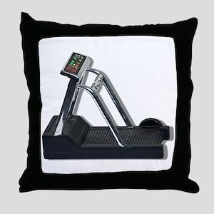 Exercise Treadmill Throw Pillow
