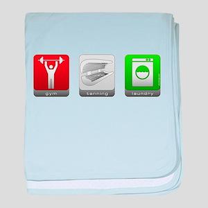 GTL - Gym, Tanning, Laundry Infant Blanket