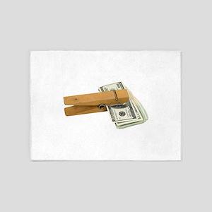 MoneyReminder080209 5'x7'Area Rug