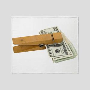 MoneyReminder080209 Throw Blanket