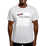 I Love Jones Beach Ash Grey T-Shirt