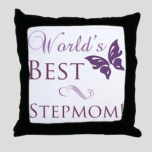 World's Best Stepmom Throw Pillow