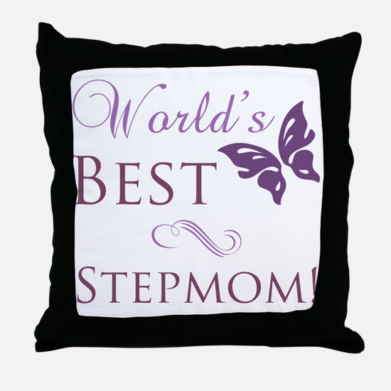 World's Best Stepmom Throw Pillow