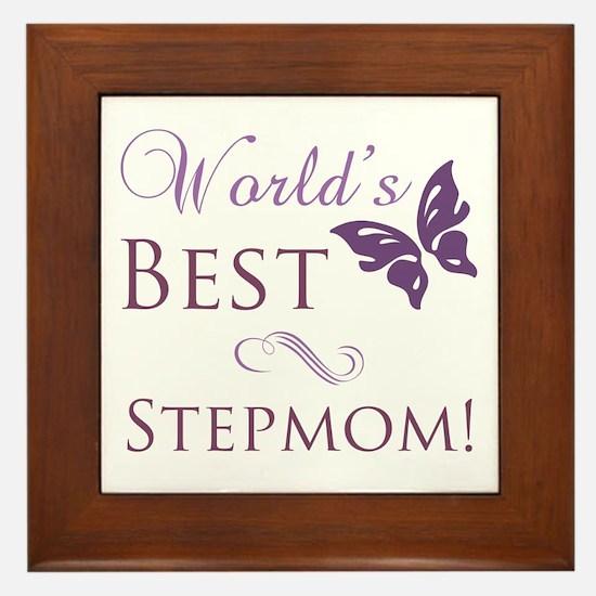 World's Best Stepmom Framed Tile