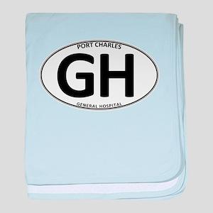 General Hospital - GH Oval Infant Blanket