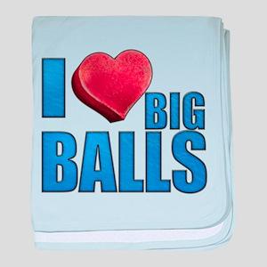 I Heart Big Balls Infant Blanket