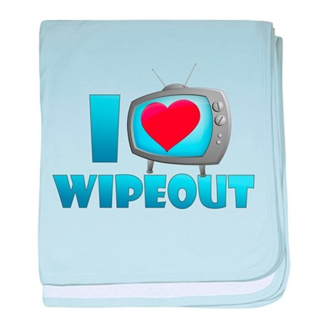 I Heart Wipeout Infant Blanket