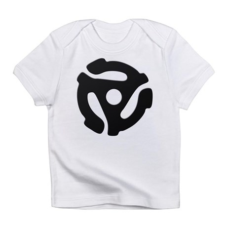 Black 45 RPM Adapter Infant T-Shirt