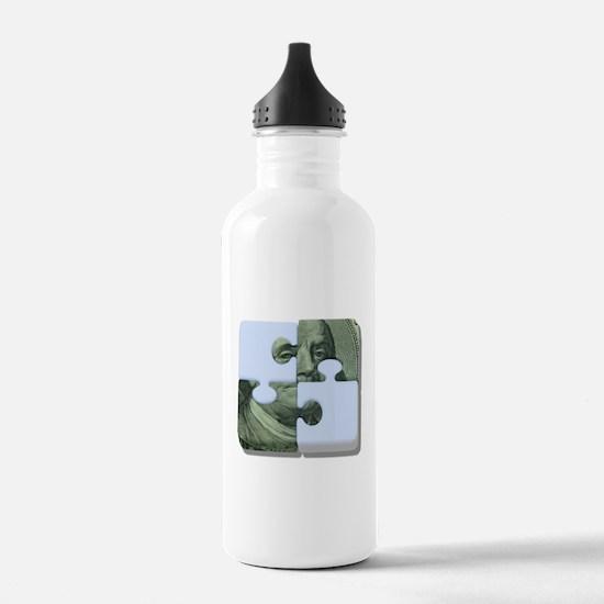 Money Puzzle Water Bottle