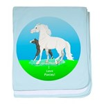 Pony mare and foal baby blanket