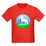 Pony mare and foal Kids Dark T-Shirt