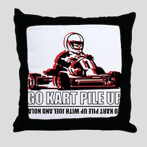 Go Kart Pile Up Throw Pillow