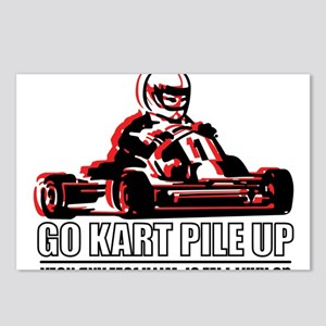 Go Kart Pile Up Postcards (Package of 8)