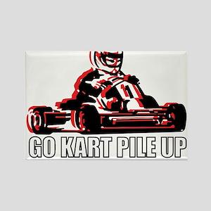 Go Kart Pile Up Rectangle Magnet