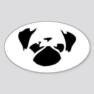 Cutie Pug Sticker (Oval)
