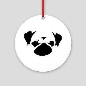 Cutie Pug Ornament (Round)