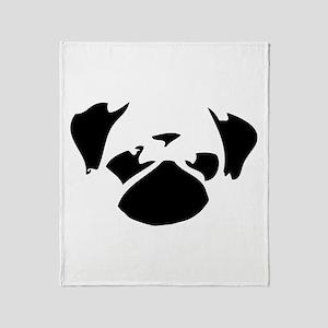 Cutie Pug Throw Blanket