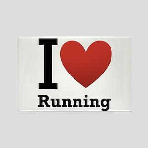 I Love Running Rectangle Magnet