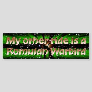 My Other Ride Is A Romulan Warbird Sticker (Bumper