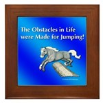 Jumping Pony Framed Tile