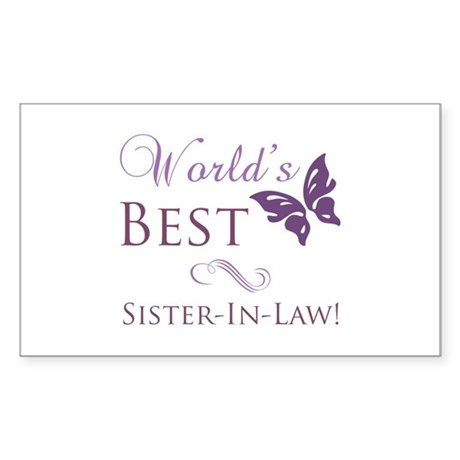World's Best Sister-In-Law Sticker (Rectangle)