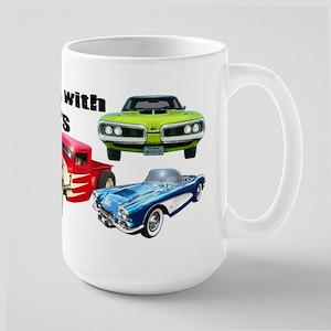 Still Plays With Cars Large Mug