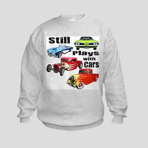 Still Plays With Cars Kids Sweatshirt