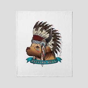 Pitting Bull Throw Blanket