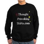 Thought Provoking Shirts logo on Sweatshirt (dark)