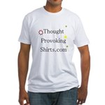 Thought Provoking Shirts logo on Fitted T-Shirt