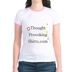 Thought Provoking Shirts logo on Jr. Ringer T-Shir