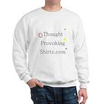 Thought Provoking Shirts logo on Sweatshirt