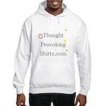 Thought Provoking Shirts logo on Hooded Sweatshirt