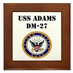 USS ADAMS Framed Tile