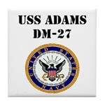 USS ADAMS Tile Coaster