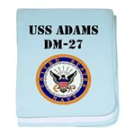 USS ADAMS baby blanket