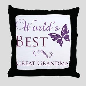 World's Best Great Grandma Throw Pillow