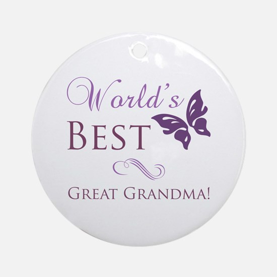 World's Best Great Grandma Ornament (Round)