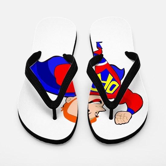 redhead super dad Flip Flops