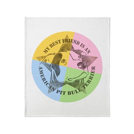 My Best Friend (Color) Throw Blanket