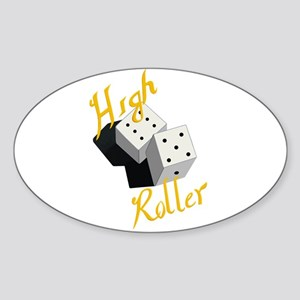 High Roller Sticker (Oval)
