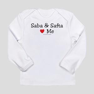 "Saba & Safta ""Heart"" Me Long Sleeve Infant T-Shirt"