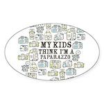 Paparazzo Sticker (Oval 50 pk)