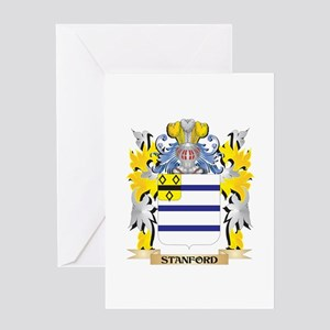 Stanford Family Crest - Coat of Arm Greeting Cards