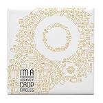 Believe in Crop Circles Tile Coaster
