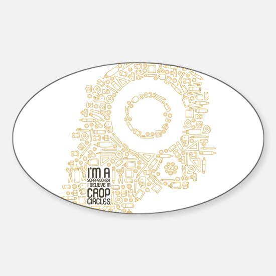 Believe in Crop Circles Sticker (Oval)
