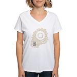 Believe in Crop Circles Women's V-Neck T-Shirt